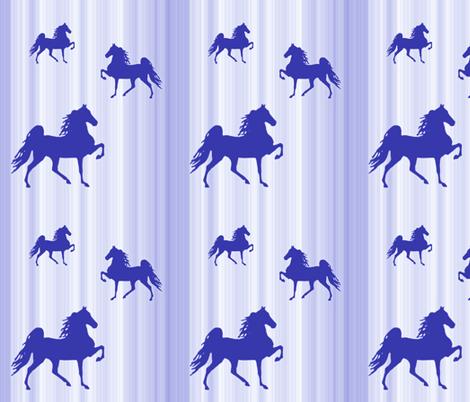 Horses-blue_stripe fabric by mammajamma on Spoonflower - custom fabric