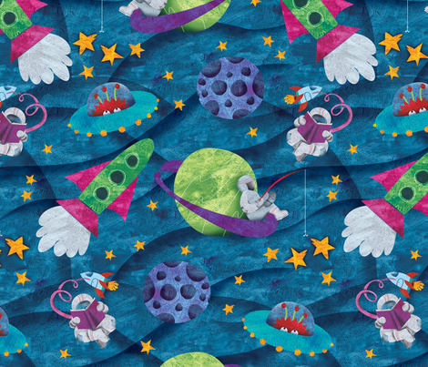 things to do in outer space fabric by karismithdesigns on Spoonflower - custom fabric