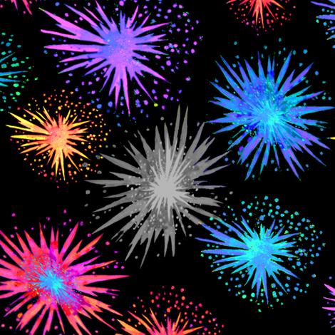 Fireworks fabric by magentarosedesigns on Spoonflower - custom fabric