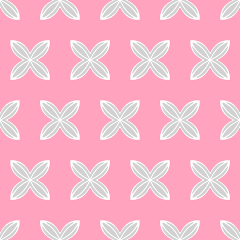 Cuatro Flower in pink fabric by joanmclemore on Spoonflower - custom fabric