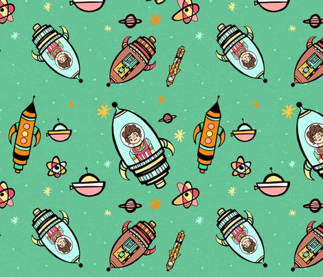 A Cosmic Adventure fabric by kirstyellenmottram on Spoonflower - custom fabric