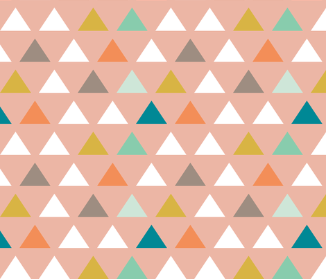 Mod Wedding Triangles fabric by mrshervi on Spoonflower - custom fabric