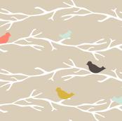 Coral Treetop Birds