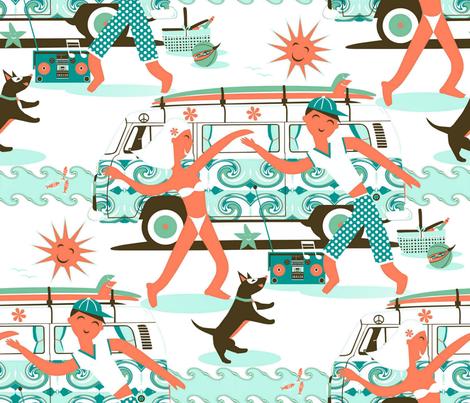 Sea__sun__surf(sound) fabric by alfabesi on Spoonflower - custom fabric