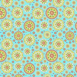 Kristofer's Mandala random allover aqua