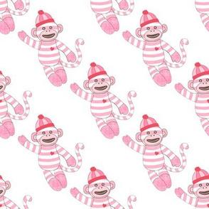 baby pink stripe monkey