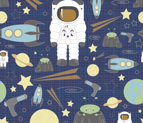 Cosmic Voyage fabric by sarah_twist on Spoonflower - custom fabric