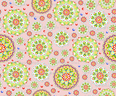 Kristofers Mandala random allover pink ground