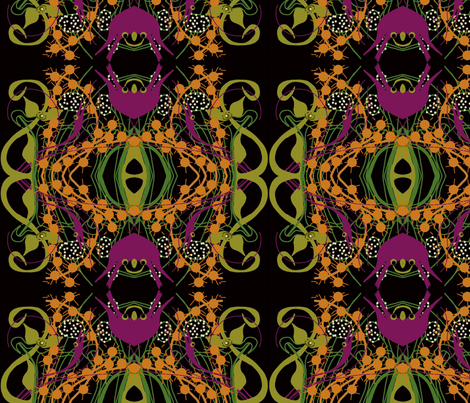 Walk in an alien garden fabric wendymo spoonflower for Alien fabric