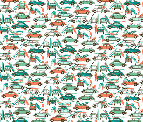 Lets go Surfing......now! fabric by stitchyrichie on Spoonflower - custom fabric