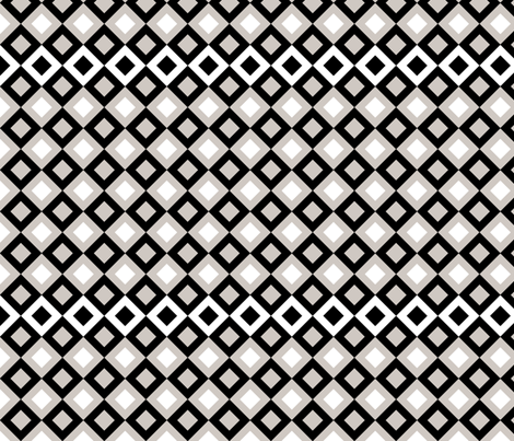 Black And Grey Squares fabric by ornaart on Spoonflower - custom fabric