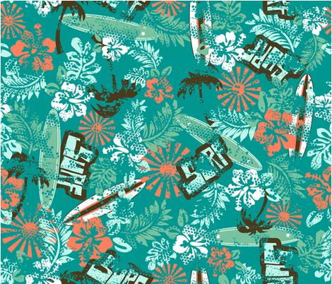 RETRO_SURF fabric by kindredjenni on Spoonflower - custom fabric