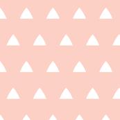 Triangles white on peach