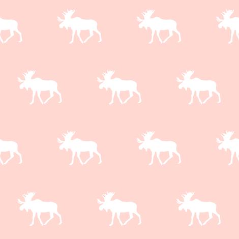 moose // rose fabric by littlearrowdesign on Spoonflower - custom fabric