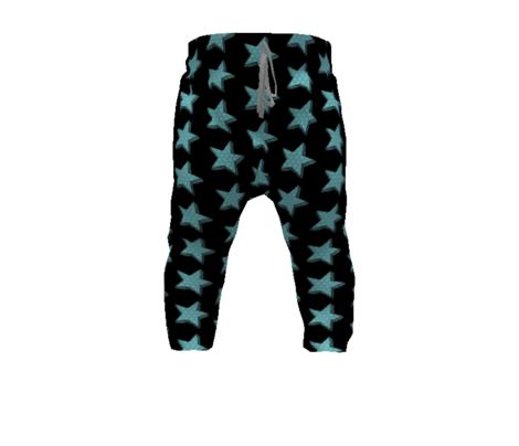 Teal star// Aqua Dotty star // Polka dot star