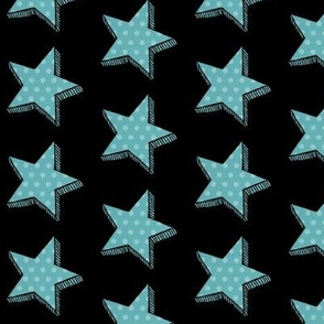 Teal star// Aqua Dotty star // Polka dot star