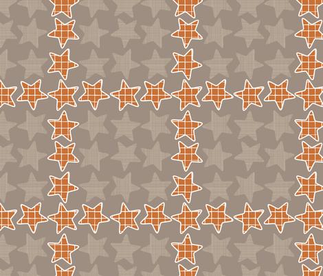 Plaid Checker Stars fabric by mrshervi on Spoonflower - custom fabric