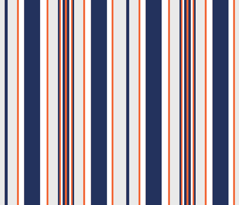 Thor's Nautical Stripe fabric by cheric on Spoonflower - custom fabric