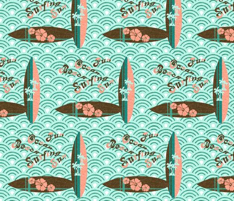 Boogie woogie surfing fabric by lucybaribeau on Spoonflower - custom fabric