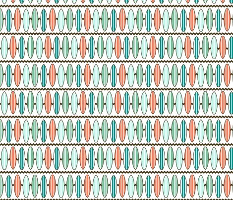 Surf Board Fabric fabric by tictactogs on Spoonflower - custom fabric