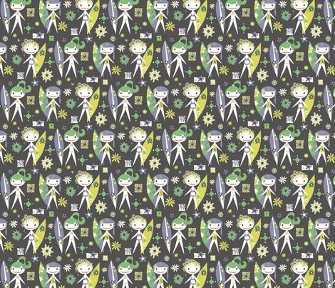 Surfer Girls Forever fabric by mktextile on Spoonflower - custom fabric