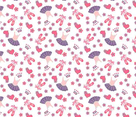 ballet dance princess fabric by tictactogs on Spoonflower - custom fabric