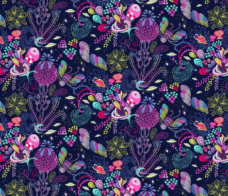 Le Jardin Cosmique - main Design fabric by irrimiri on Spoonflower - custom fabric