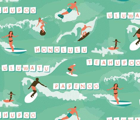 polynesian waves !  fabric by lisahilda on Spoonflower - custom fabric