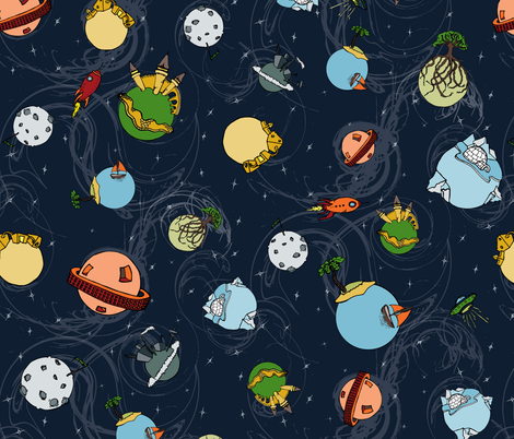 Plethora of Planets fabric by jmckinniss on Spoonflower - custom fabric