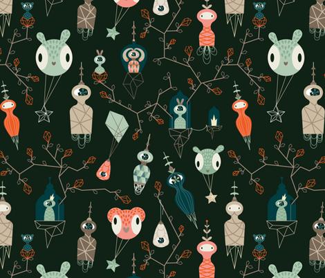 Beyond the stars fabric by antonija_m on Spoonflower - custom fabric