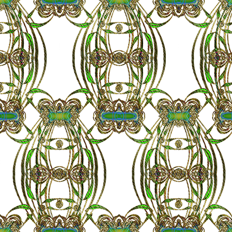 Green Glass Terrarium fabric by eclectic_house on Spoonflower - custom fabric
