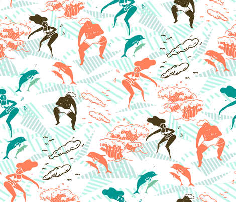 Go surfing fabric by misslin on Spoonflower - custom fabric