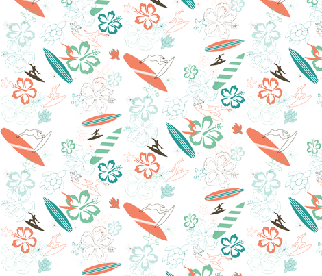 Surfs Up fabric by pamela_hamilton on Spoonflower - custom fabric