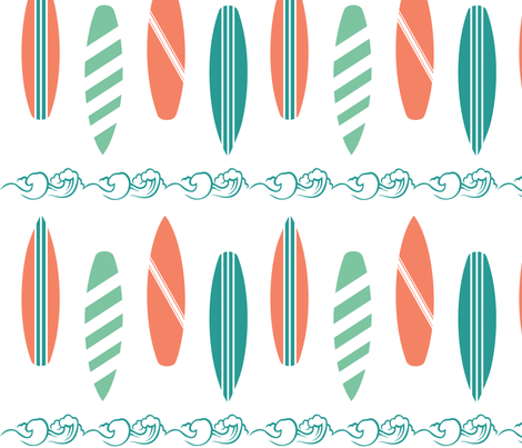 Surf Line fabric by pamela_hamilton on Spoonflower - custom fabric