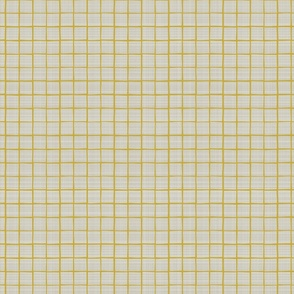 Gold Grid Linen Towel