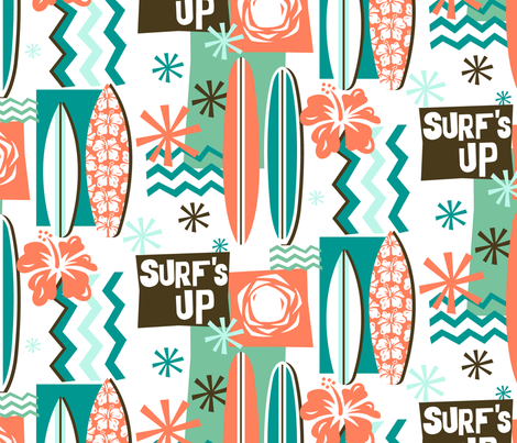 Surf's Up! fabric by celiaforrester on Spoonflower - custom fabric