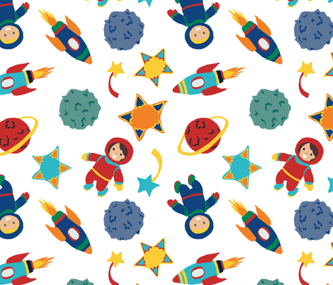 Cosmic Kiddos fabric by joyfulrose on Spoonflower - custom fabric