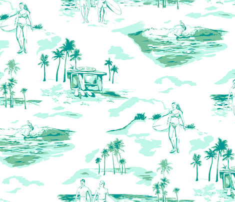 Surf Toile fabric by minimiel on Spoonflower - custom fabric
