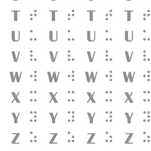 Alphabet Inspired Braille