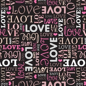 Romantic love wedding and valentine text pattern