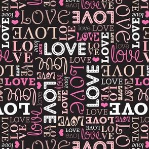 Romantic love wedding and valentine text pattern