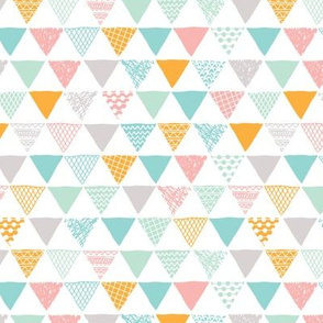 Geometric tribal aztec triangle pastel colors modern patterns