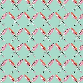 Indian aztec feathers and geometrics illustration pattern