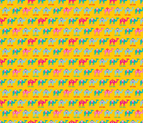 Colorful arabic summer oriental desert Camel parade fabric by littlesmilemakers on Spoonflower - custom fabric