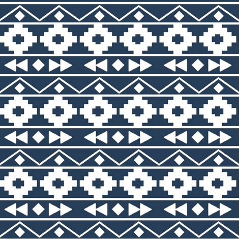 midnight tribal rows fabric by mintpeony on Spoonflower - custom fabric