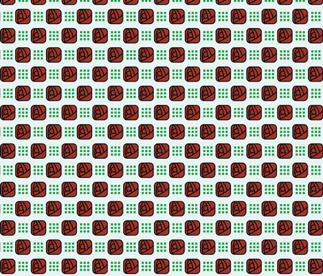 Craftsman Glasgow Rose - 2in (green) fabric by studiofibonacci on Spoonflower - custom fabric