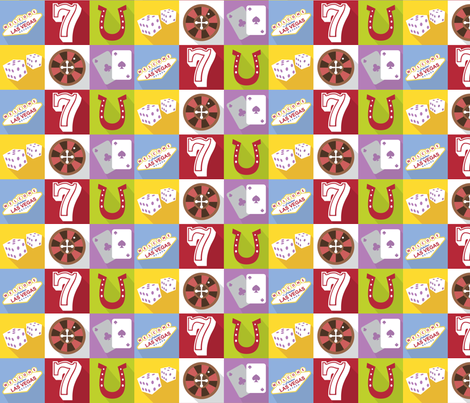 Viva Las Vegas fabric by studiofibonacci on Spoonflower - custom fabric