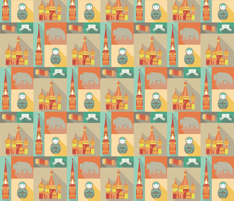 Mother Russia fabric by studiofibonacci on Spoonflower - custom fabric
