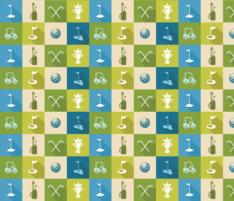 Golf Icons fabric by studiofibonacci on Spoonflower - custom fabric