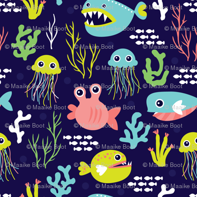 Deep water jelly fish and quirky sea life